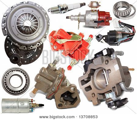 Set Of Automotive Spare Parts