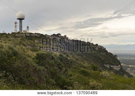 Transmitting Station Aeronautic Control Radar Aircraft On Puig De Randa, Mallorca, Balearic Islands,