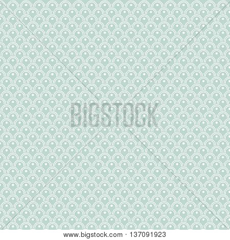 Traditional Japanese Wave Pattern Background and Texture