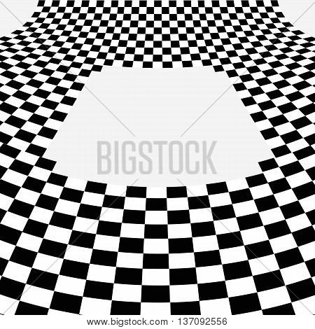 Black And White Curve Chessboard  Background Vector Eps 10 Illustration