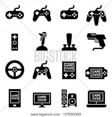 Video game Controller Joystick Game pad icon Vector illustration Graphic design