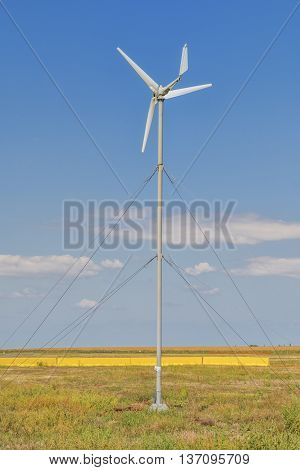 Wind turbine. Wind turbine is an alternative and green energy.