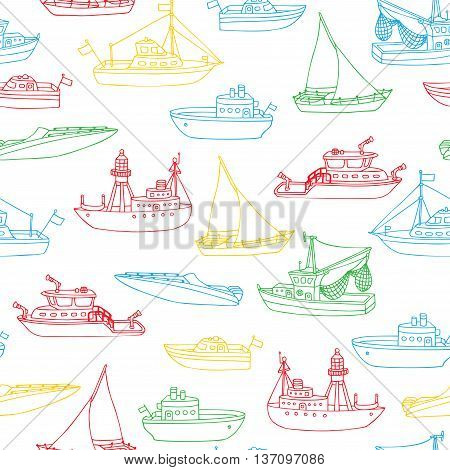 Vector Boundless Marine Background.