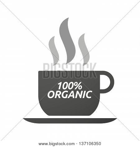 Coffee Mug Icon With    The Text 100% Organic