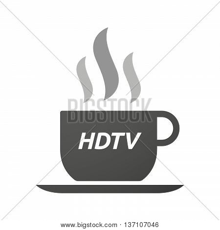 Coffee Mug Icon With    The Text Hdtv
