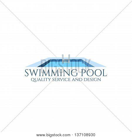 Swimming pool service and design logo. Vector illustration.