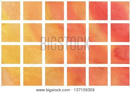Watercolor Orange Squares