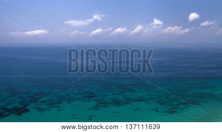 The Mediterranean Sea at the coast of Spain from height of bird's flight