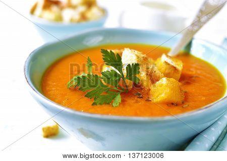 Carrot Creamy Soup.