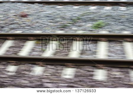 Blurring of the Railway between the trips.