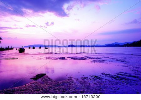 Beautiful Sunset At Tropical Beach