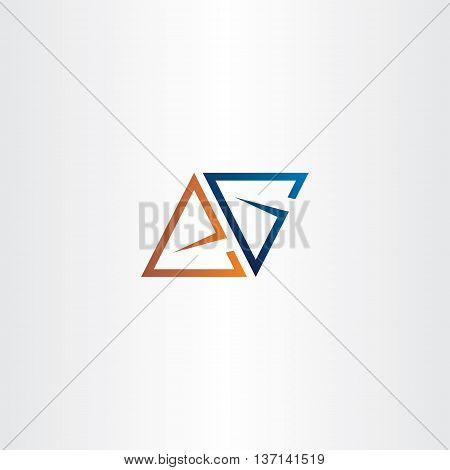 Letter A Or E And Letter G Logo Vector Triangle