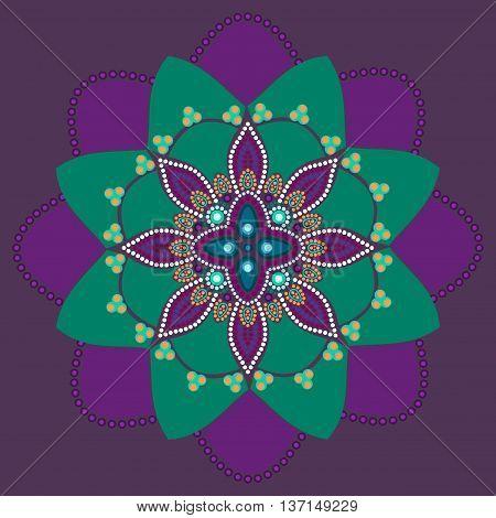 Dot painting meets mandalas 2. Aboriginal style of dot painting and power of mandala