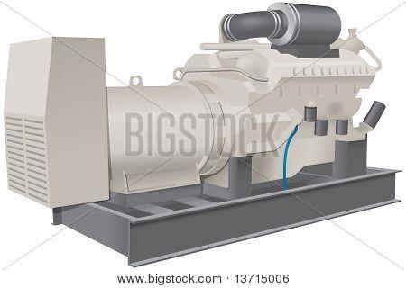 Water pump mounted on framework