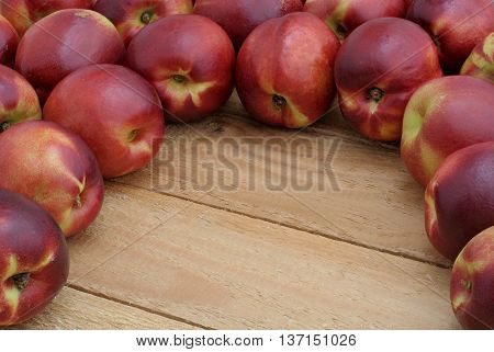 over a dozen nectarines on the boards