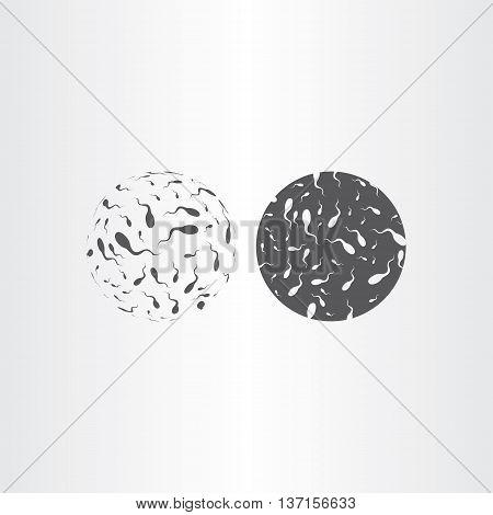 spermatozoon vector icon design medical illustration element