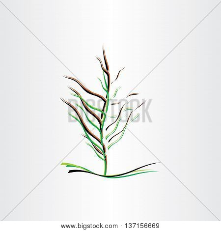 stylised tree vector illustration design icon element