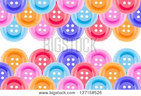 Colorful buttons Colorful Clasper close up texture or background