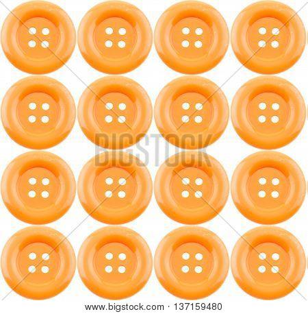 Orange clasper pattern isolated on white background