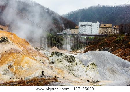 Jigokudani Hell Valley And Onsen Hotel, Noboribetsu