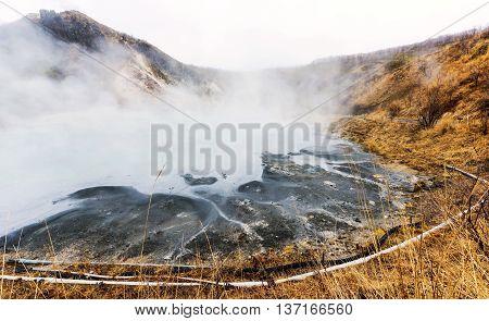Oyunuma Hot-water Marsh, Noboribetsu, Hokkaido