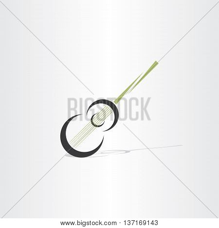 Guitar Stylised Vector Icon Design Element