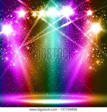 spotlight light background empty scene illustration easy all editable