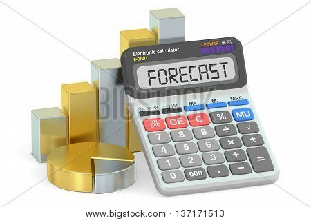 Forecast concept 3D rendering isolated on white background