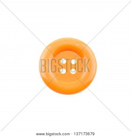 orange clasper isolated on a white background