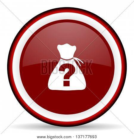 riddle round glossy icon, modern design web element