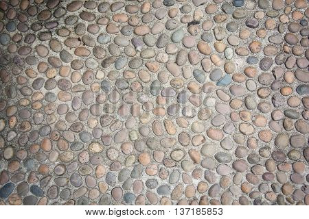 stone wall surface with cement , stone background