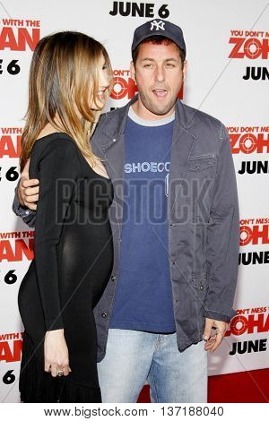 Jackie Sandler and Adam Sandler at the World premiere of 'You Don't Mess With The Zohan' held at the Grauman's Chinese Theater in Hollywood, USA on May 28, 2008.