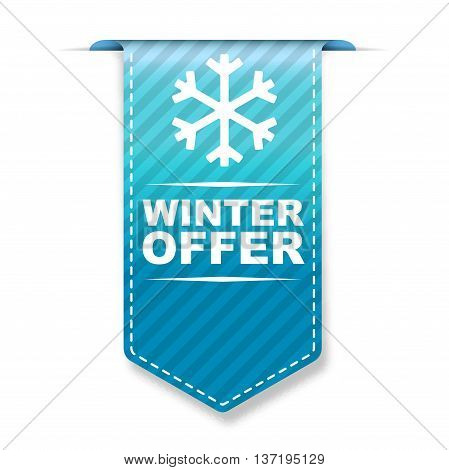 This is blue vector banner design winter offer
