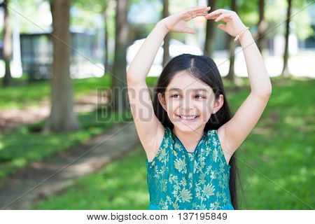 Little Girl Ballet Posing