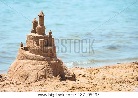 Built House Sand Castle