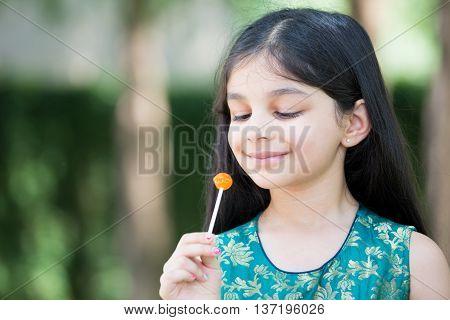 Girl Enjoying Lolly