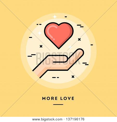 More love flat design thin line banner usage for e-mail newsletters web banners headers blog posts print and more