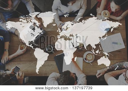 Global Business International Worldwide Corporate Concept