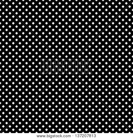 Grid, Mesh Of Intersecting Lines. Abstract Monochrome Background, Seamlessly Repeatable Pattern. Reg