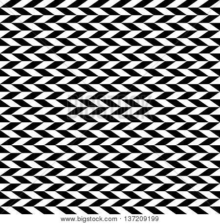 Checkered Seamless Pattern With Alternating Parallelogram. Optical Illusion, Contrasty Background