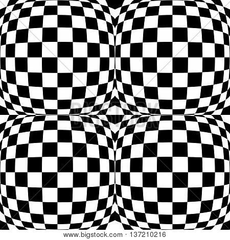 Checkered Pattern(s) With Distortion, Deformation Effect. Repeatable.
