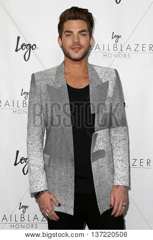 NEW YORK-JUN 25: Singer Adam Lambert attends Logo TV's