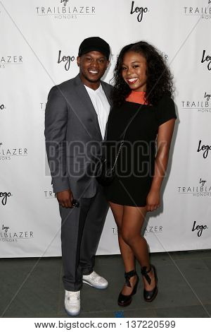 NEW YORK-JUN 25: MTV personality Sway (L) and his daughter Naomi attend Logo TV's