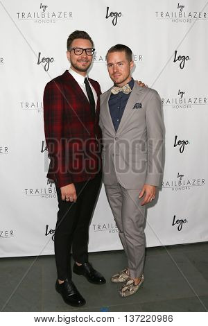 NEW YORK-JUN 25: Rob Younkers (L) and  Theodore Leaf attend Logo TV's