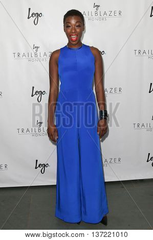 NEW YORK-JUN 25: Actress Samira Wiley attends Logo TV's