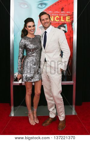 NEW YORK-AUG 10: Actor Armie Hammer (R) and wife Elizabeth Hammer attend