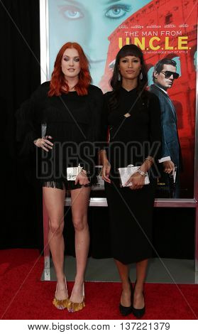 NEW YORK-AUG 10: Singers Caroline Hjelt and Aino Jawo of Icona Pop attend