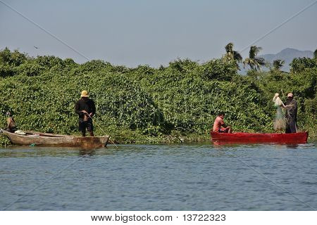 Fisherman in Coyuca river