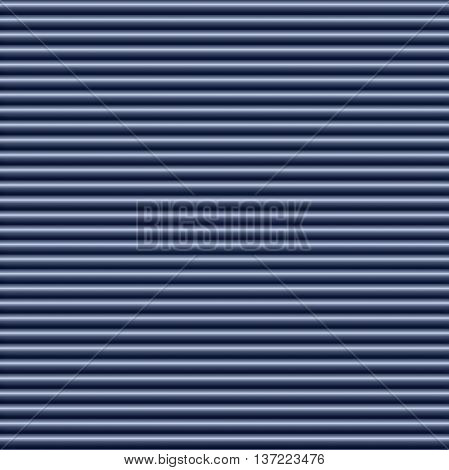 Horizontal blue metallic tube background texture seamlessly tileable