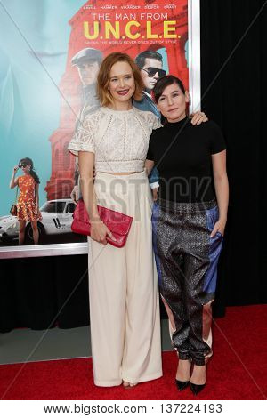 NEW YORK-AUG 10: Yael Stone (R) and guest attend